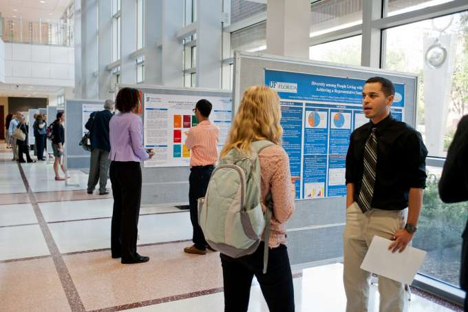 Image of students at public health day