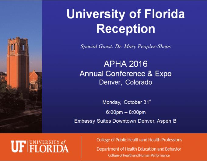 University of Florida Reception - APHA 2016 - Denver Colorado