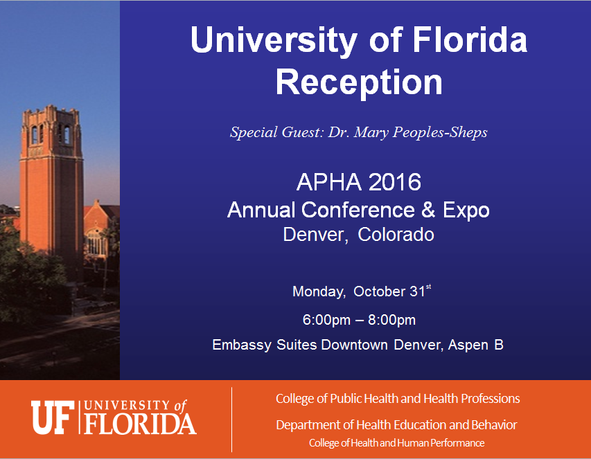 University of Florida Reception - APHA 2016 - Denver Colorado