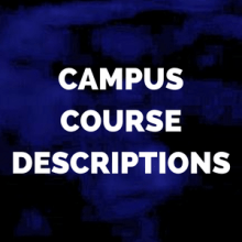 campus course descriptions