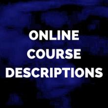 online course descriptions