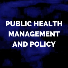 public health management and policy