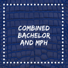 combined bachelor and mph